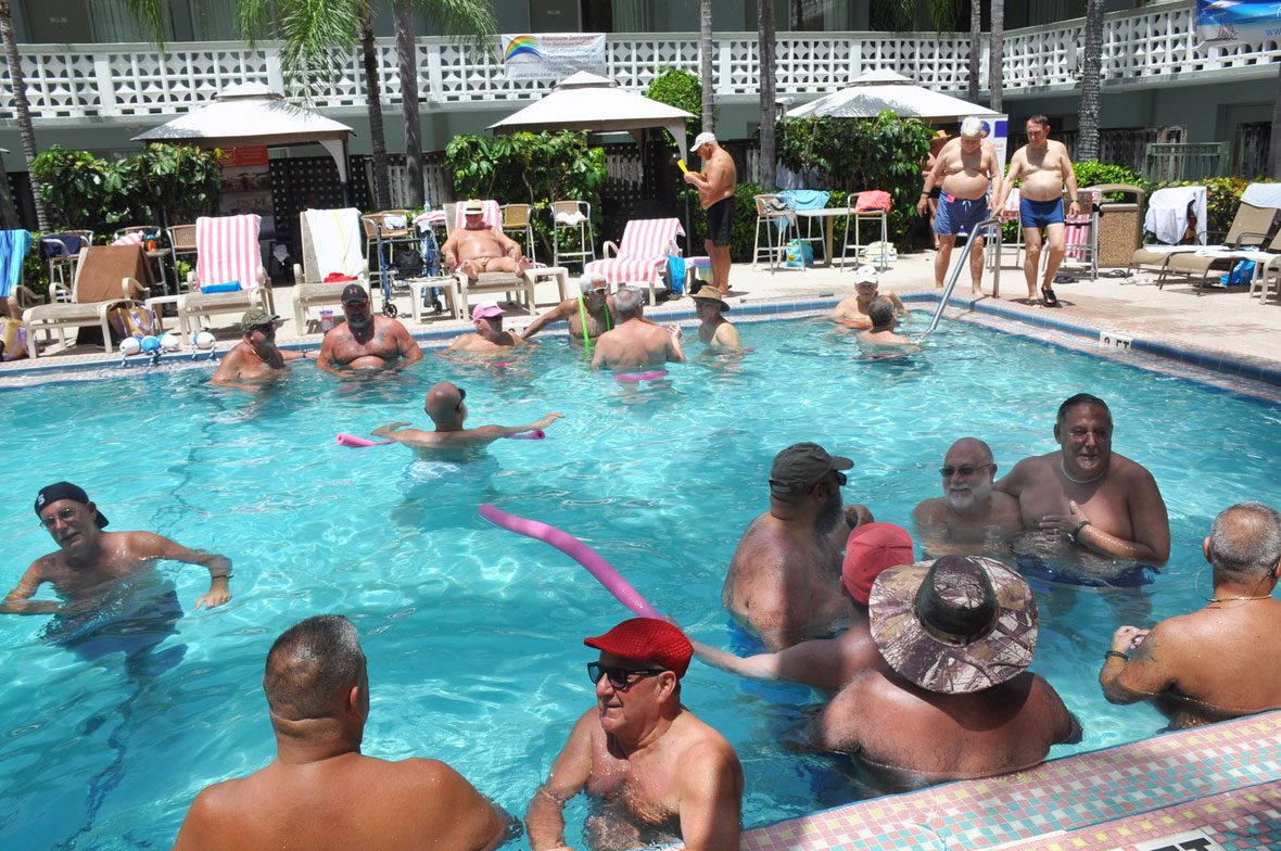 <i>POOL MAY OR MAY NOT BE HEATED DEPENDING ON THE NUMBER OF MEN IN THE WATER.</i>